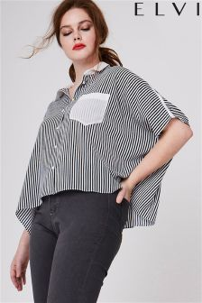 Elvi Curve Stripe Box Top