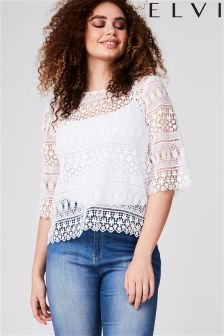 Elvi Curve Lace Top
