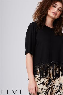 Elvi Curve Fringe Basic Top