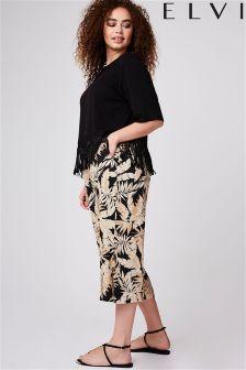 Elvi Curve Tropical Print Culottes