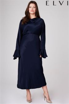 Elvi Hayley Hasselhoff Collection Navy Midi Dress