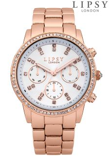 Lipsy Ladies Crystal Set Bracelet Watch