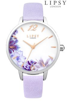 Lipsy Ladies Floral Faced Watch