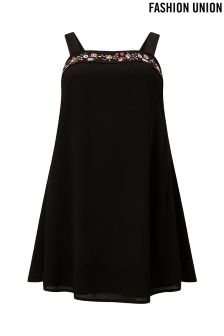 Fashion Union Curve Embroidered Sundress