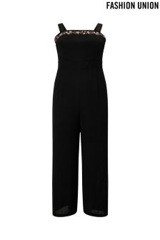 Fashion Union Curve Embroidered Jumpsuit