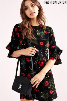 Fashion Union Floral Shift Dress