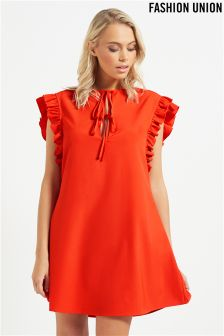 Fashion Union Frill Sleeve Dress