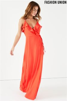 Fashion Union Ruffle Maxi Dress