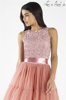 Lace And Beads  Embellished Crop Top