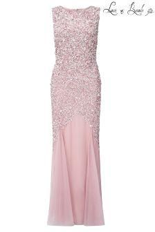 Lace & Beads Embellished Maxi Dress
