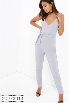 Girls On Film Multi Strap Jumpsuit