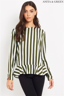 Anita & Green Stripe Blouse