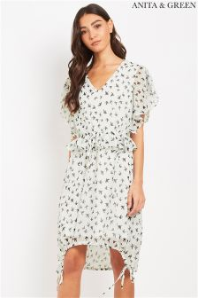 Anita & Green Chiffon Print Dress