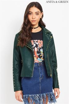 Anita & Green Stud PU Jacket