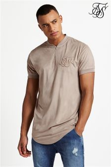 Siksilk Cotton Curved Hem Tee