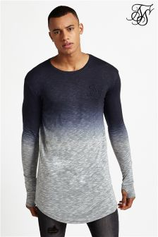 Siksilk Dip Dye Long Sleeve Tee
