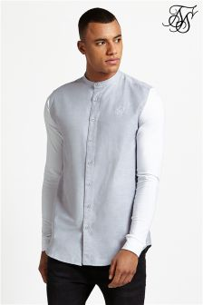 Siksilk Contrast Long Sleeve Shirt