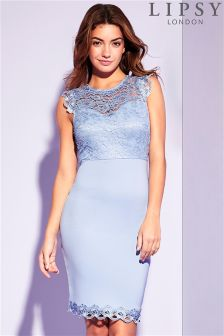 Lipsy Lace Top Bodycon Dress
