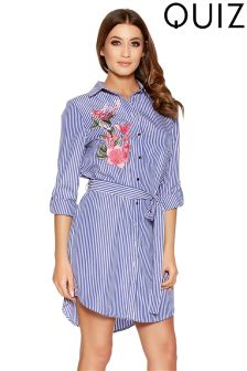 Quiz Embroidery Shirt Dress