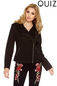 Quiz Zip Detail Biker Jacket