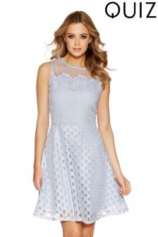 Quiz Crochet And Mesh High Neck Dress