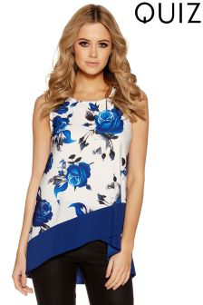 Quiz Floral Print Wrap Hem Top