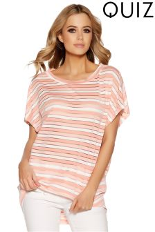Quiz Stripe Batwing Top