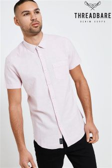 Threadbare Linen mix Short Sleeve Shirt