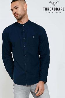 Threadbare Grandad Collar Shirt
