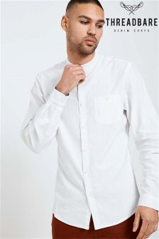 Threadbare Granddad Collar Shirt