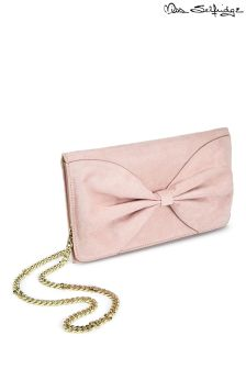 Miss Selfridge Suedette Bow Clutch Bag