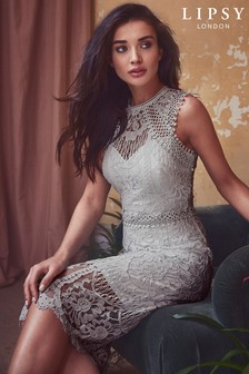 Lipsy VIP All Over Lace Midi Dress