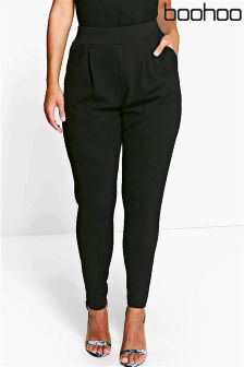 Boohoo Plus Diane Pleat Front Trousers