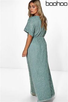 Boohoo Plus All Over Sequin Maxi Dress