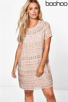 Boohoo Plus Embellished Shift Dress