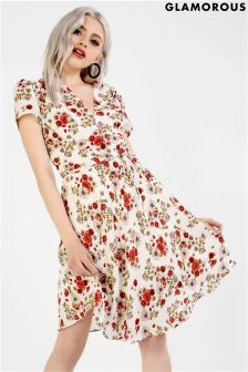 Glamorous Print Tea Dress