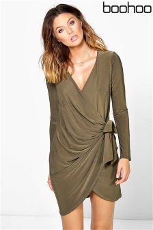 Boohoo Knot Detail Dress