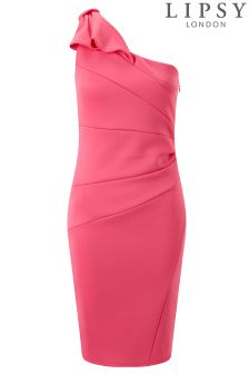 Lipsy Bow Detail One Shoulder Bodycon Dress