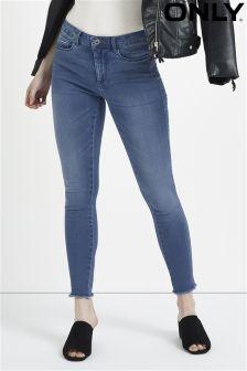 Only Raw Hem Skinny Jeans