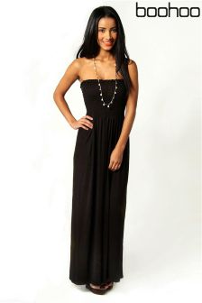 Boohoo Shelley Bandeau Maxi Dress