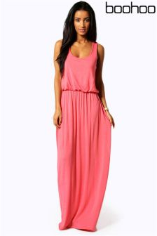Boohoo Alica Racer Back Maxi Dress