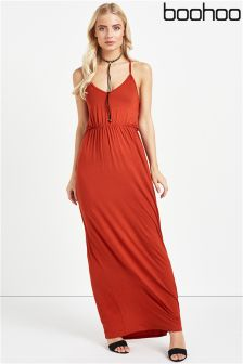 Boohoo Lauren Ring Detail Strappy Maxi Dress