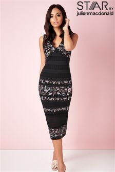 Star By Julien Macdonald Embroidered Bodycon Dress