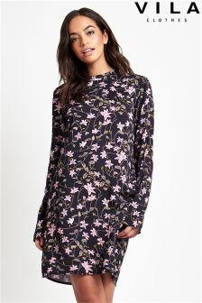 Vila Floral Shift Dress