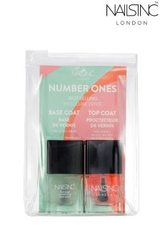 Nails Inc Numbers 1s Base And Top Coat Duo