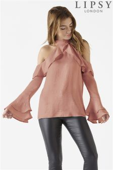 Lipsy Ruffle Sleeved Top
