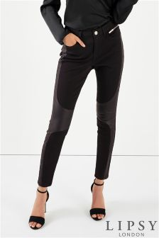 Lipsy Coated Panel Biker Jeans