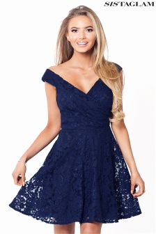 Sistaglam Lace Skater Dress