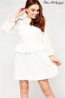 Miss Selfridge Long Sleeve Frill Dress