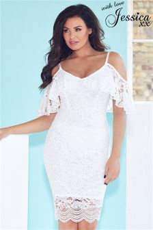 Jessica Wright Lace Cold Shoulder Bodycon Dress